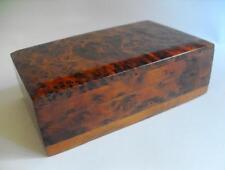 Vintage woodenware boxes veneered Burr wood As Found 10988