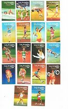 Set of 18 Cornish Match Co matchbox labels Los Angeles 1984 Olympics Ac48.