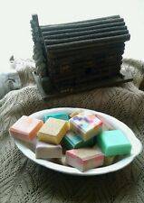 (6) GUEST/SAMPLER SIZE BARS ASSORTED HOMEMADE HANDMADE GOAT MILK/SHEA SOAP LOT