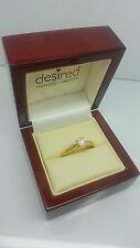 9ct yellow gold plated pear shaped created diamond ring our riviera collection