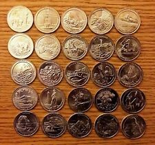 COMPLETE US NATIONAL PARKS QUARTER DOLLAR 30 COINS P or D YEAR SETS 2010-2015