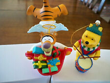 2 Christmas Magic Disney Grolier 26231 Collectible Ornaments Winnie & Tigger