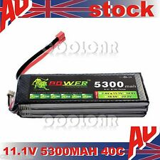 11.1V 5300MAH 40C Polymer lithiumion battery for Helicopter RC Car plane ship OZ
