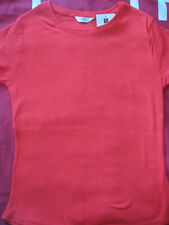 NEW WOMEN'S CLOTHES EDITIONS T SHIRT TOP RED 100% COTTON T SHIRT UK 12 BNWT