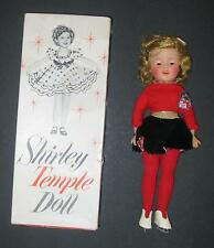 SHIRLEY TEMPLE ST-12 DOLL WEARING ORIGINAL ICE SKATING OUTFIT w/ BOX