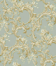 Elegant Floral Trail Seafoam Wallpaper Double Roll Bolts FREE SHIPPING