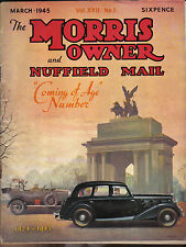 Morris Owner & Nuffield Mail 3/45 Pipelines, Tankers & Aeroplanes during the war