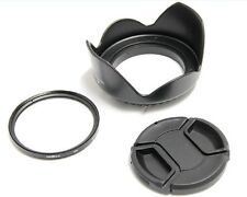 52mm Lens Hood Cap UV Filter Nikon for D3000 18-55mm EF 50mm f/1.8D_SX