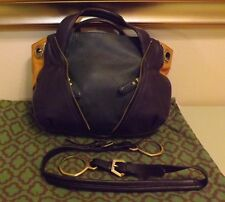orYany Pebble Leather Lian Satchel  Convertible Hand Teal Multi Color