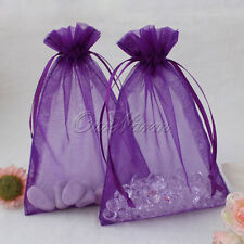 50 x Luxury Organza Gift Bag Wedding Favour Baby Shower Jewellery Pouch Packing