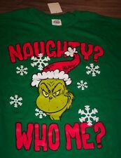 Dr. Seuss THE GRINCH WHO STOLE CHRISTMAS NAUGHTY WHO ME?  T-Shirt XL NEW