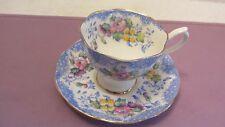 Royal Albert LOVELACE Blue Colourway Teacup & Saucer Blue Lace Pattern