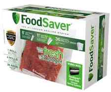 "Genuine FoodSaver Vacuum Sealing Combo Pack Seal Sealer 8"" & 11"" wide Rolls Bags"