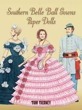 NEW FASHION SOUTHERN Bell Ball Gowns PAPER DOLLS  FULL COLOR history Brand new