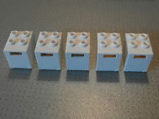 Lego - 5 White Container / Post / Mail Boxes 2x2x2 (4345 4346)