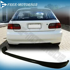 FOR 92-95 HONDA CIVIC 3DR HATCHBACK REAR BUMPER LIP SPOILER BODYKIT URETHANE PU