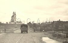 WWII German Army Large Combat RP- Truck- KFZ- Drives into Russian City- Bridge