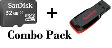 SanDisk 32 GB Micro SD Card Class-4 & Cruzer Blade 32GB Pen Drive Combo Pack