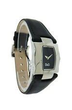 Dolce & Gabbana Time DW0614 Women's Black Tonneau Analog Leather Watch