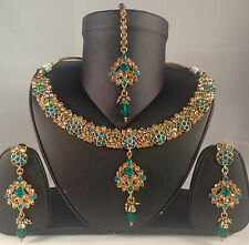 GOLDEN Indiano Fashion Jewellery, COLLANA ORECCHINI & TIKKA Set sv14-0030