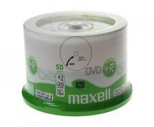 50 DVD +R Maxell Rohlinge DVD+R 16x bedruckbar bis zum Innenring 4,7GB 50er cake