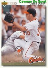 227 GREGG OLSON BALTIMORE ORIOLES BASEBALL CARD UPPER DECK 1992