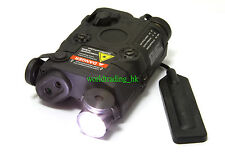 Airsoft Dummy PEQ 15 LED Flashlight + Green Laser + Wire Remote Control (BLACK)