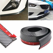 "100"" Car Lip Skirt Protector Front Bumper Chin Spoiler Splitter Carbon Fiber New"
