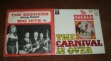 THE SEEKERS SING THEIR BIG HITS & THE CARNIVAL IS OVER VINYL 33 RPM LPS