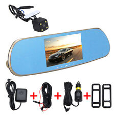 "5.0""HD 1080P Car Dash DVR Cam GPS Android WiFi Dual Lens Mirror Rearview Parking"