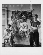 Elaine & Willem De Kooning 1953 New York Abstract Expressionists Photo POSTCARD