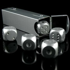 Silver Aluminium Alloy Poker Solid Dominoes Dice Game Portable Dice Poker Party