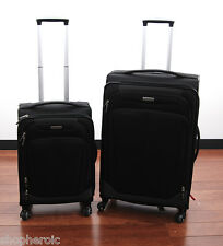 """Samsonite Movelite Extreme Softside 2-Piece Luggage 21 & 27"""" Black Suitcase Set"""