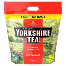 TAYLORS OF HARROGATE YORKSHIRE TEA BAGS 3kg 1 CUP 1200 CATERING CAFE RESTAURANT