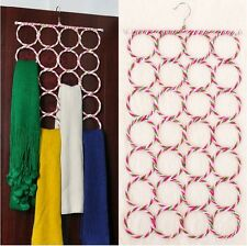 Ring Rope Slots Wrap Shawl Holder Hanger For Scarf Tie Display Stand 28 Holes JA