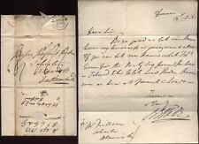 1833 DOVER Posted Letter  Mr R ORDE to Thorp Dickson of Alnwick