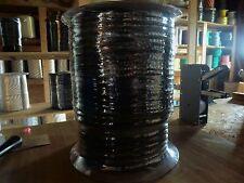 500 ft. spool of 8mm 16 strand Polyethylene ski/barrier/musher rope. Black.