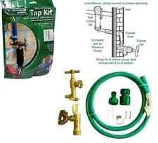 DELUXE BRASS OUTDOOR TAP KIT EXTERNAL GARDEN TAP & FITTINGS SET DIY SELF CUTTING
