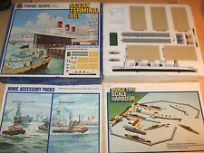 Hornby Minic Ships - Ocean Terminal Set - Queen Mary - 1/1200 - New & Sealed