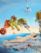 "Salvador Dali ""Dream..."" 8.3X11.7 canvas print reproduction of painting"