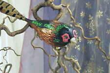 Weihnachtsvogel Weihnachtschmuck Christbaumkugel Vogel Fasan braun grün rot