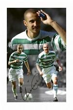 HENRIK LARSSON - CELTIC AUTOGRAPHED SIGNED A4 PP POSTER PHOTO