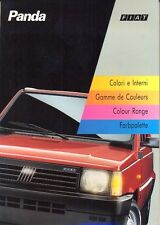 Fiat Panda L CLX Selecta 4x4 Colour chart multi-language 1993 brochure
