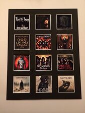 "BLACK VEIL BRIDES 14"" BY 11"" LP COVERS PICTURE MOUNTED READY TO FRAME"