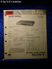 Sony Service Manual ST D50L Tuner  (#1382)