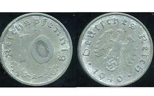 ALLEMAGNE 10 reichspfennig  1940 A   TTB