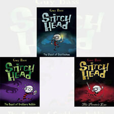 Guy Bass 3 Books Stitch Head Series Collection Pack Set (The Ghost of Grotteskew