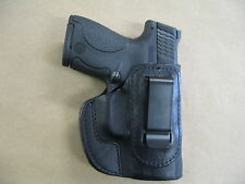 Ruger LC9, LC9S IWB Leather In The Waistband Concealed Carry Holster BLACK RH