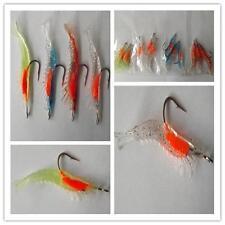 1X Luminous Soft Lures Artificial Shrimp Lures/Hooks Noctilucent Prawn Baits YA