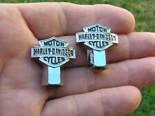~ HARLEY DAVIDSON VALVE CAPS PAIR *New & Unique* Tire Valve Nuts Tyre FREE SHIPP
